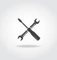 Wrench Screwdriver Black Icon vector image