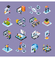Webinar Podcasting Icons Set vector image
