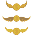 coins with wings vector image