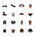 clothes icon set vector image