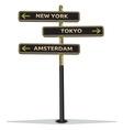 Znak na putu New York resize vector image vector image