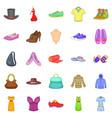 stylish clothes icons set cartoon style vector image
