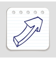 Doodle Arrow icon vector image