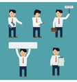 Flat businessmen set vector image