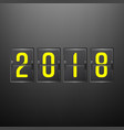 happy new year 2018 holiday banner or vector image