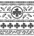 Indian tribal pattern background vector image