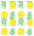 seamless pattern of pineapple vector image