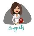 Secretaries day congratulations card design vector image