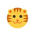 tiger cartoon animal head vector image