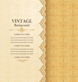 Vintage ornamental greeting card with lace vector image