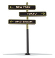 Znak na putu New York resize vector image