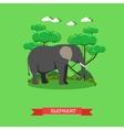 Zoo concept banner Wildlife elephant animal vector image