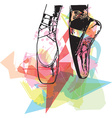 Abstract ballet pointe shoes vector image vector image