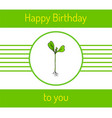 hand drawn sprout plant vector image