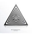 abstract triangle shape made with black lines vector image