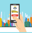 mobile call to taxi service vector image vector image