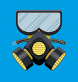 modern gas mask respirator fire equipment vector image