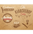 Barbershop Set Kraft vector image vector image