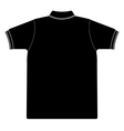back side of polo shirt Silhouetted vector image vector image
