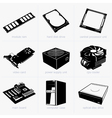 Computer components vector image
