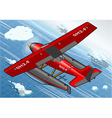 Isometric Artic Hydroplane in Flight in Rear View vector image
