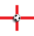 football on england flag background 0306 vector image vector image