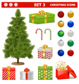 Christmas Icons Set 3 vector image
