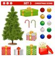Christmas Icons Set 3 vector image vector image