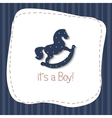 baby born congratulation card vector image