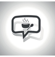 Curved hot soup message icon vector image