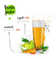apple carrot mix cocktail of fresh juice hand vector image
