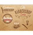 Barbershop Set Kraft vector image