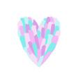 beautiful pastel paint heart shape vector image