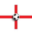 football on england flag background 0306 vector image