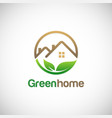 green home environment logo vector image