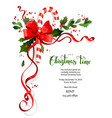 holiday floral decor vector image