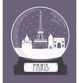 Paris christmas glass ball vector image