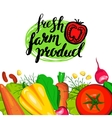 Template card with vegetables vector image