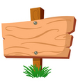 wood sign vector image