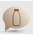 Milk bottle sign Brown gradient icon on bubble vector image