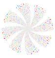 hand fireworks swirl rotation vector image