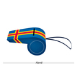 Blue Color of An Aland Flag Whistle vector image