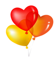 Colorful Heart Shape Balloons Yellow Red And vector image