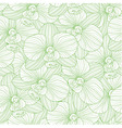Green lines orchid seamless pattern vector image