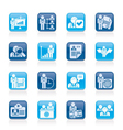 Human resource and employment icons vector image