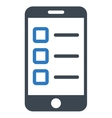 Mobile test icon from Business Bicolor Set vector image