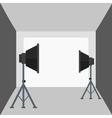 Background of empty photo studio with lighting vector image