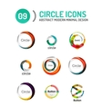 Set of various circle logos vector image