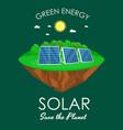 alternative energy power solar electricity panel vector image