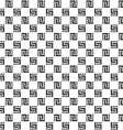Checkered monochrome seamless pattern vector image